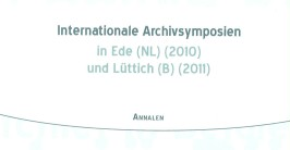 Titelbild des Buches 'Internationales Archivsymposion'